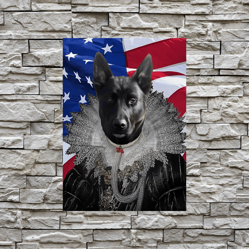 Pet Creatives The Queen - USA FLAG EDITION - Custom Pet Canvas