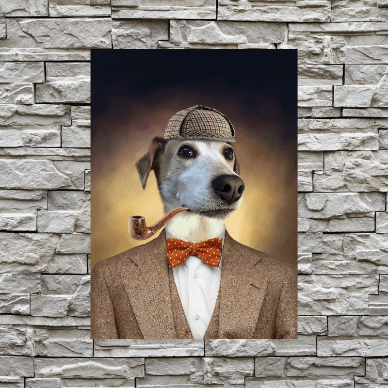 Pet Creatives The Sherlock Paws- Custom Pet Canvas