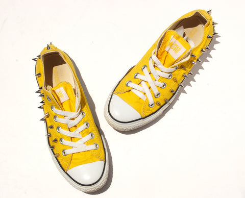 Yellow Studded Converse All Star Sneakers - Sunshine and Studs Converse