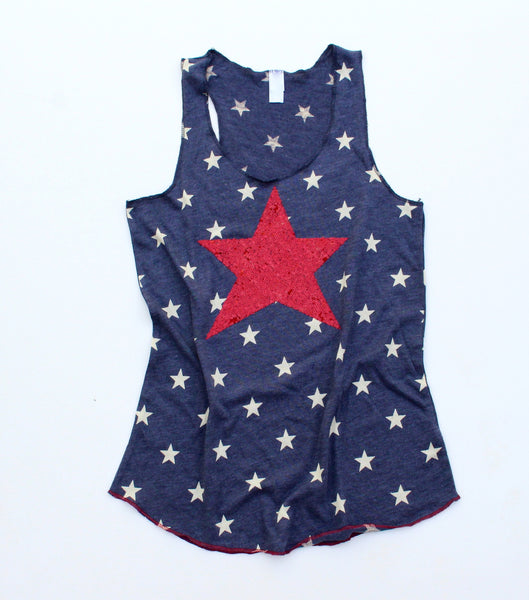4th of July Sequin Star Tank