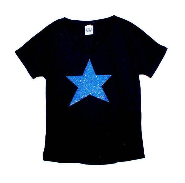Star / Sequin Patch Star Shirt / T-Shirt / 4th of July / Fourth of July / Patriotic Clothing / Red White Blue / Texas / Womens Tee