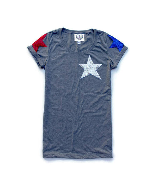 Sequin Star Womens 4th of July Shirt. Stars and Stripes. America Tee. USA Tank Top. July 4th Tank. Red White Blue. Star Tee. Star Celestial