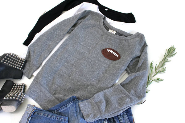 Football Mom Shirt / Sequin Top / Sweatshirt / Game Day Shirt / Cheer Mom / Gift for Women / Her / Sports Fan Gift / Tailgate Shirt / Wife