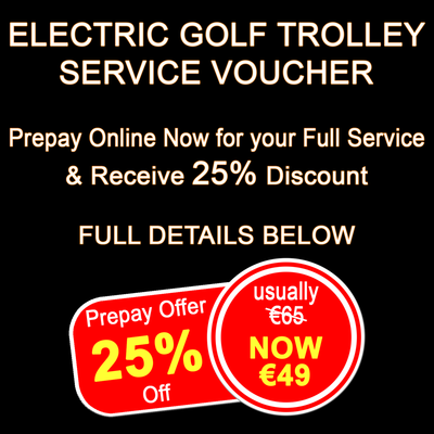 Caddycare Electric Trolley Service Voucher - Prepay