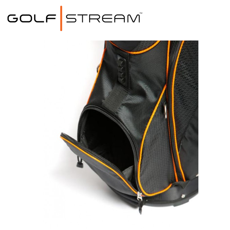 Golfstream Luxury Golf Bag LITE BLACK Pocket