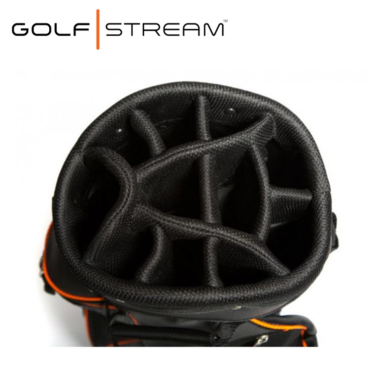Golfstream Luxury Golf Bag LITE BLACK Dividers