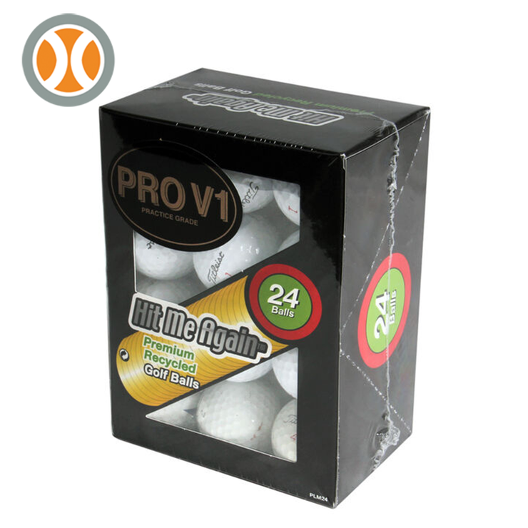 Hit Me Again Titleist ProV1 Recycled Practice Grade Golf Balls (24 Balls)