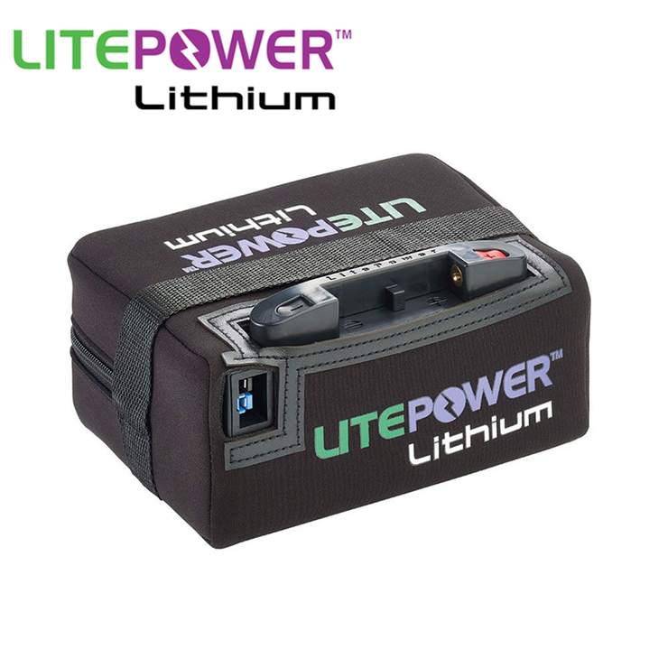 LitePower Standard Lithium 16ah Battery & Charger (18 Hole)