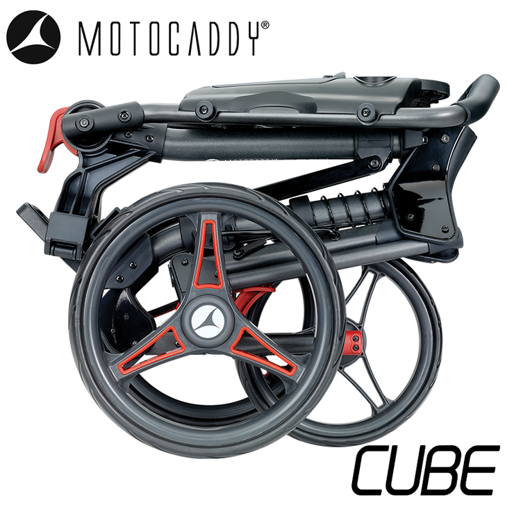 Motocaddy-Cube-2020-Red-Folded-Side
