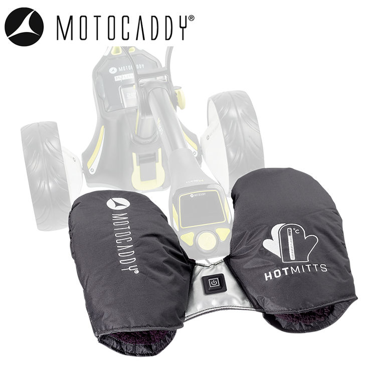 Motocaddy-Hotmitts-on-Trolley