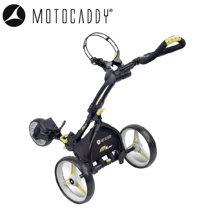 Motocaddy M1 Lite Push Trolley Black Angled