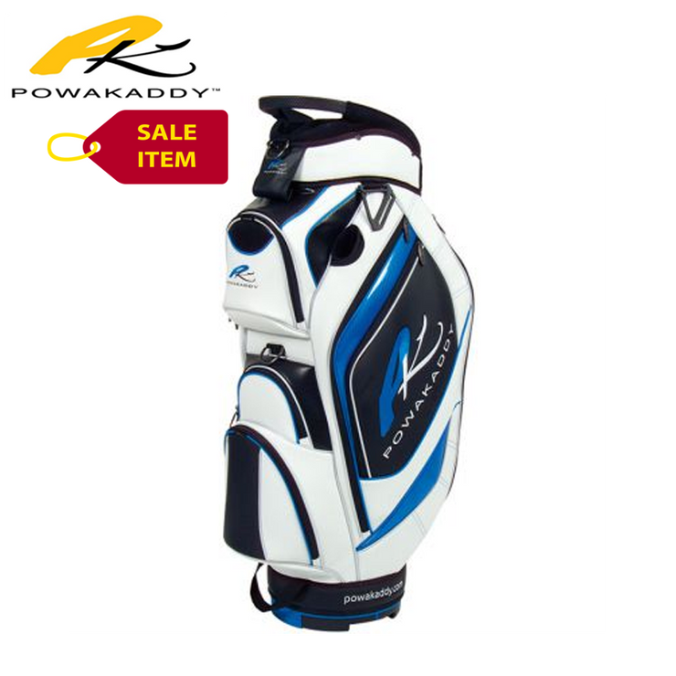 Powakaddy Premium Edition Cart Bag Black Blue White