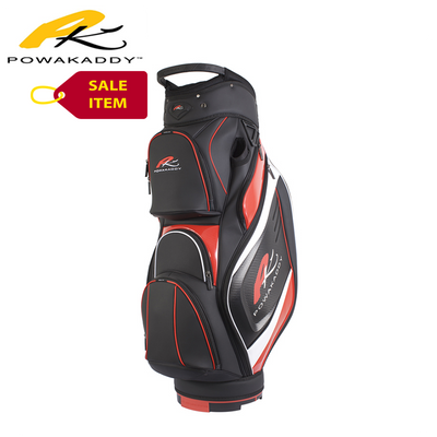 Powakaddy Premium Edition Cart Bag Black Red