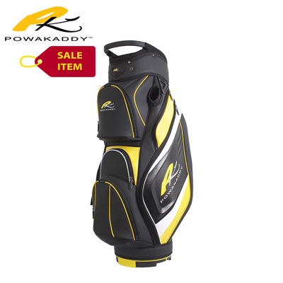 Powakaddy Premium Edition Cart Bag Black Yellow