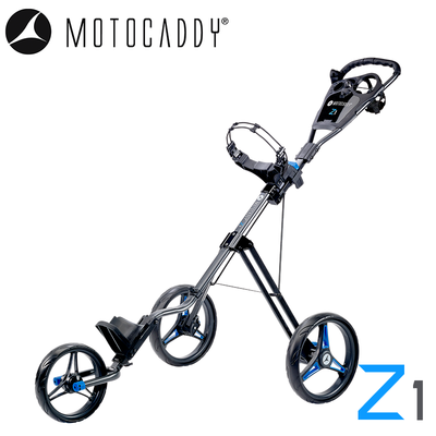 Motocaddy-Z1-Trolley-2020-Blue-Angled