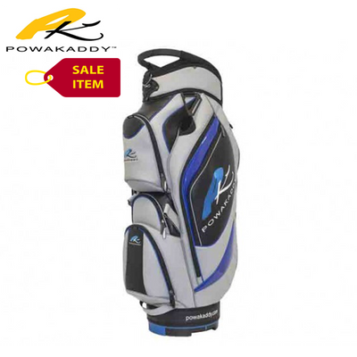 Powakaddy Premium Edition Cart Bag Grey Black Blue