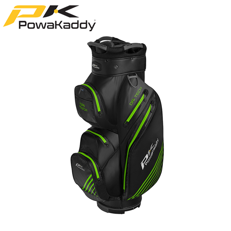 Powakaddy-Dri-Tech-Golf-Bag-Black-GunMetal-Lime