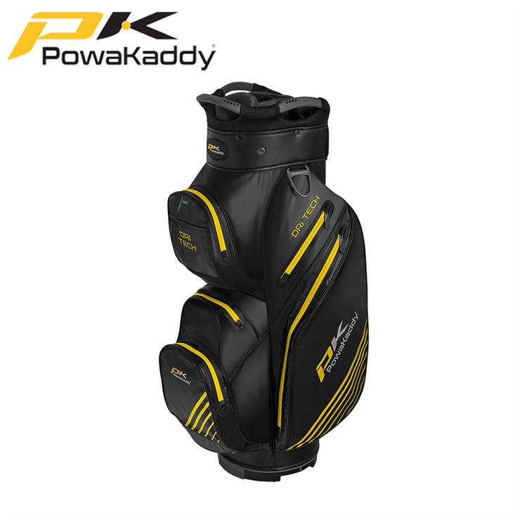 Powakaddy-Dri-Tech-Golf-Bag-Black-GunMetal-Yellow