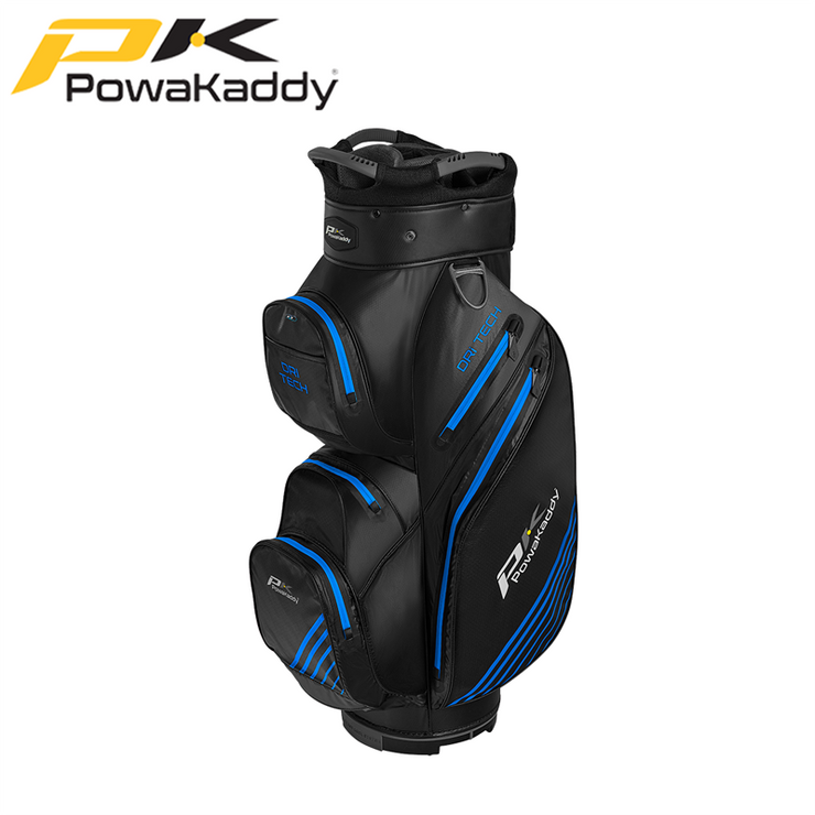 Powakaddy-Dri-Tech-Golf-Bag-Titanium-Black-GunMetal-Blue