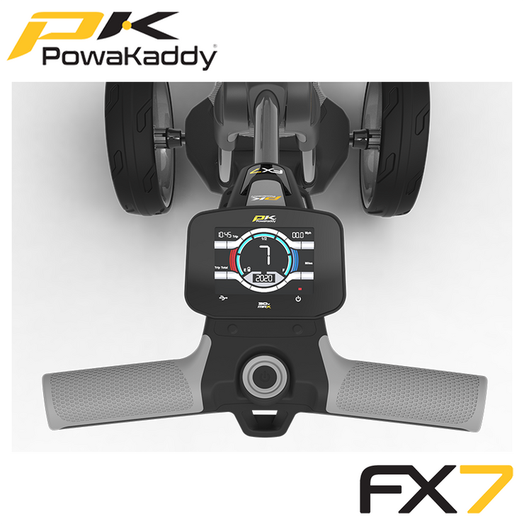 Powakaddy-FX7-Gunmetal-Metallic-Handle-Above