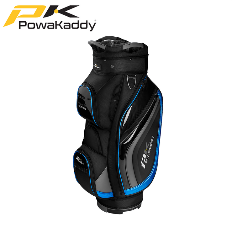 Powakaddy-Premium-Edition-Golf-Bag-Black-GunMetal-Blue