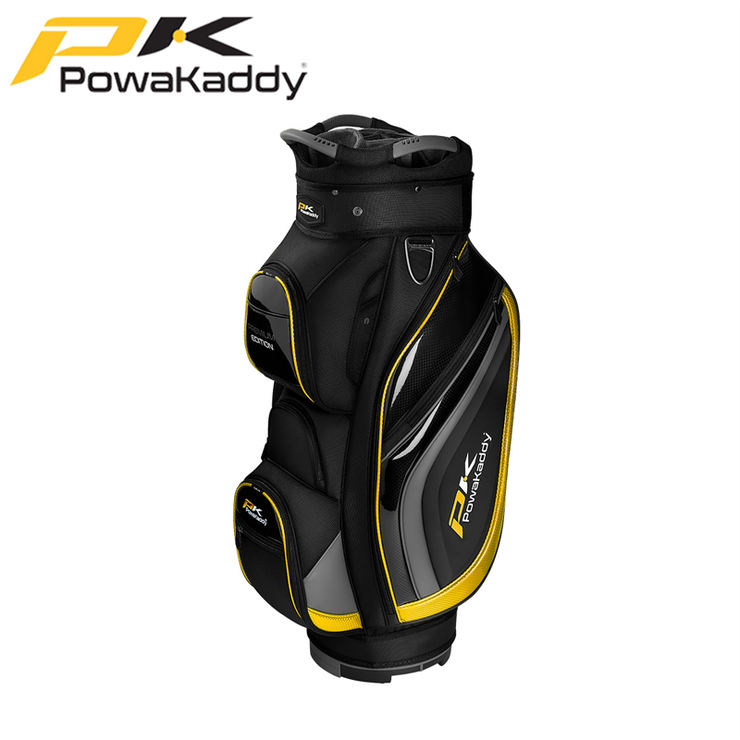 Powakaddy-Premium-Edition-Golf-Bag-Black-GunMetal-Yellow
