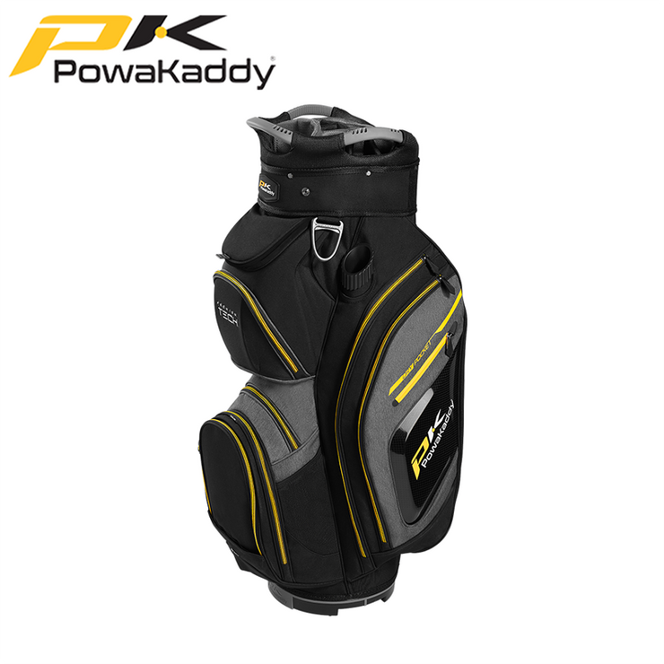 Powakaddy-Premium-Tech-Golf-Bag-Black-Heather-Yellow-Trim