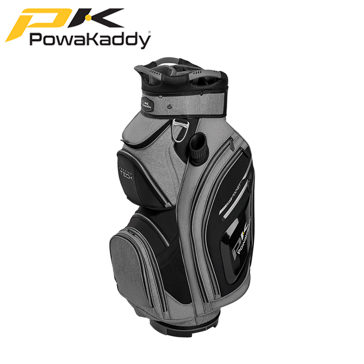 Powakaddy-Premium-Tech-Golf-Bag-Heather-Black-Silver-Trim