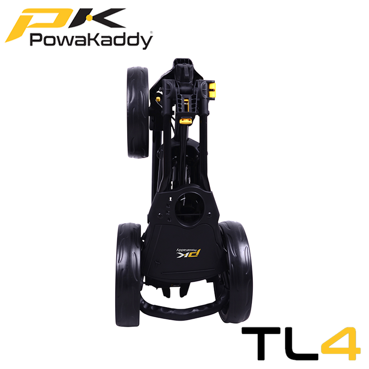 Powakaddy-Twinline-Push-Trolley-Black-Folded