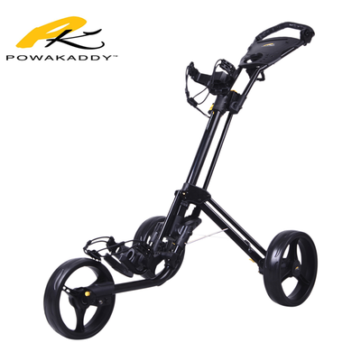 Powakaddy Twinline Push Trolley Black Side