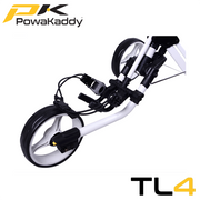 Powakaddy-Twinline-Push-Trolley-White-Front-Wheel