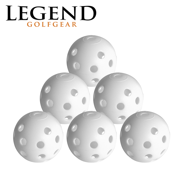 Legend Plastic Hollow Balls 6 Pack