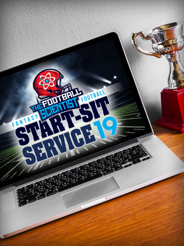 2019 TFS Fantasy Football START-SIT Service (1/2 season discount)