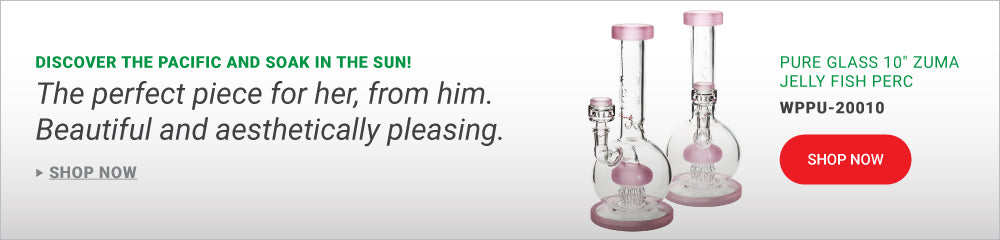 Pure Pink Glass Bong