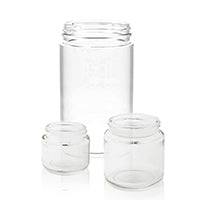 Wide Mouth Straight Sided Jars