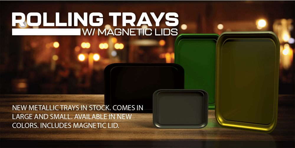 Rolling Trays with magnetic lid