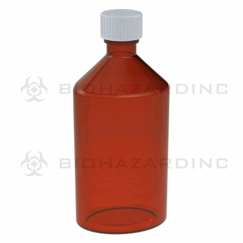 Biohazard Inc Oval Bottles 12 oz Amber Oval Bottles - 50 Count