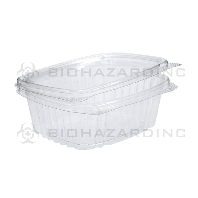 Biohazard Inc Edible Container 12oz Plastic Hinged Lid Edible Container - 200 Count