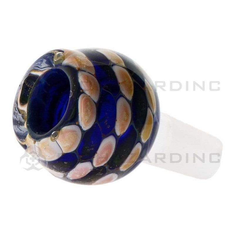 Biohazard Inc 14mm Bowl 14mm Blue Marble Pattern Bowl - 5 Pack