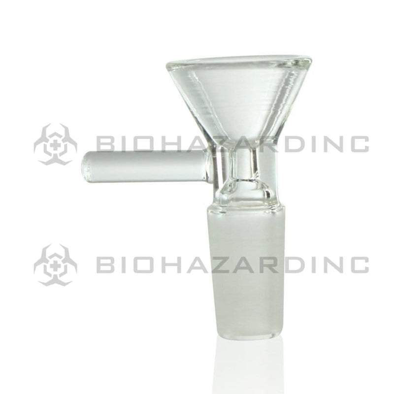 Biohazard Inc 14mm Bowl 14mm Funnel Bowl With Handle - Clear