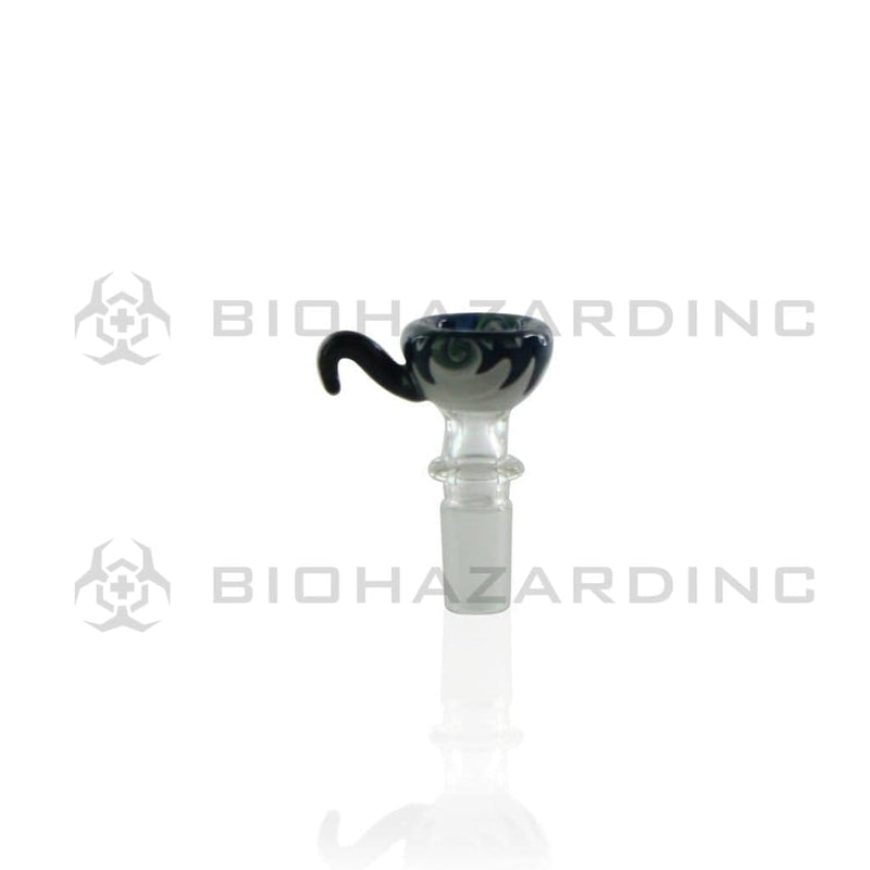 Biohazard Inc 14mm Bowl 14mm Funnel Bowl With Hook - Reversal