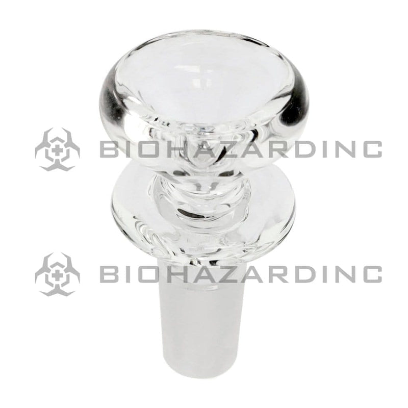 Biohazard Inc 14mm Bowl 14mm Funnel Bowl With Ring - Clear
