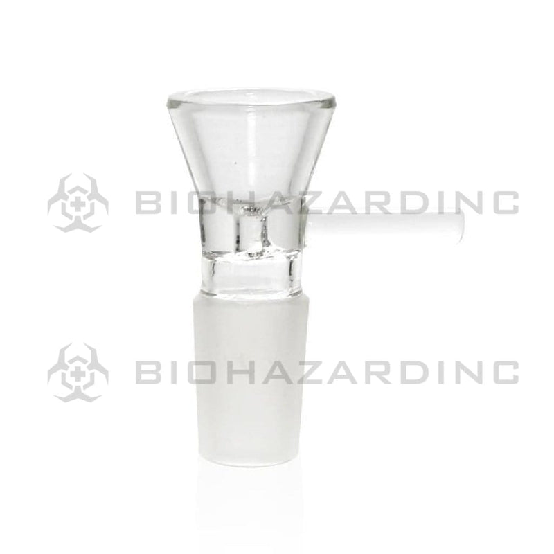 Biohazard Inc 19mm Bowl 19mm Funnel Bowl with Handle - Clear