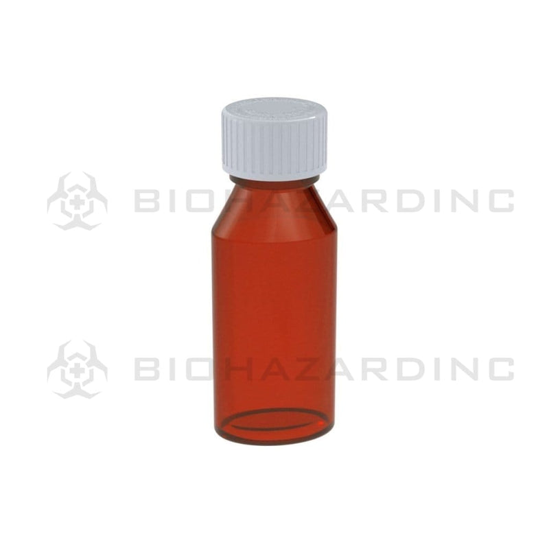 Biohazard Inc Oval Bottles 2 oz Amber Oval Bottles - 250 Count