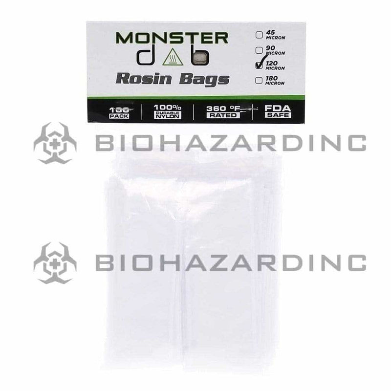 "Monster Dab Rosin Bag 2"" x 10"" 120 Micron Monster Dab Rosin Bag - 100 Count"