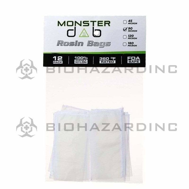 "Monster Dab Rosin Bag 2"" x 4"" 90 Micron Monster Dab Rosin Bag - 12 Count"