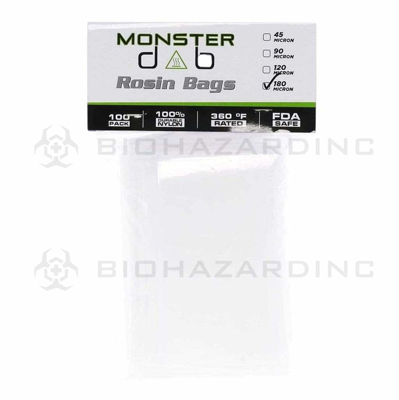 "Monster Dab Rosin Bag 3"" x 6"" 180 Micron Monster Dab Rosin Bag - 100 Count"