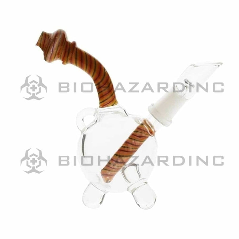 "Biohazard Inc Glass Dab Rig 4"" Pendant Dab Rig 10mm - Orange Reversal"