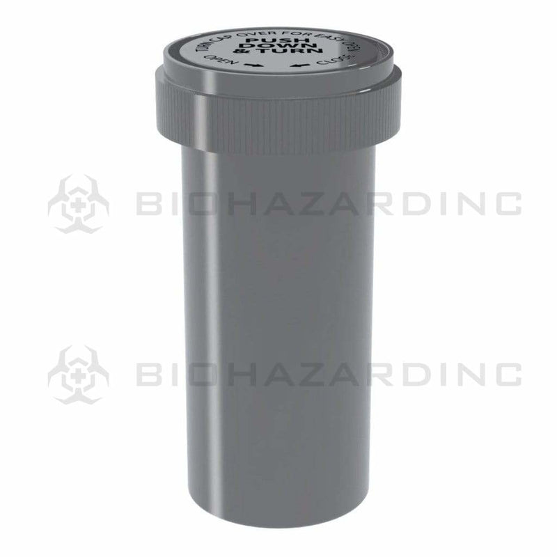 Biohazard Inc Reversible Cap Vial 40 Dram - Reversible Vial 150 Count - Opaque Silver