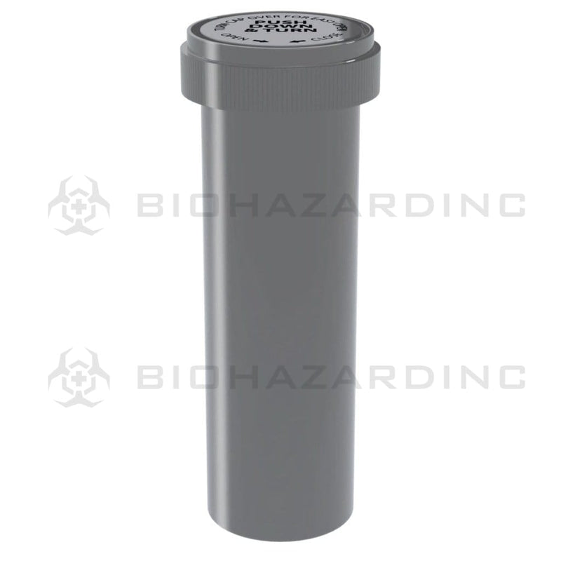 Biohazard Inc Reversible Cap Vial 60 Dram - Reversible Vial 100 Count - Opaque Silver